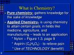 what is chemistry1
