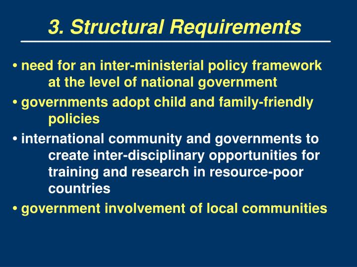 3. Structural Requirements