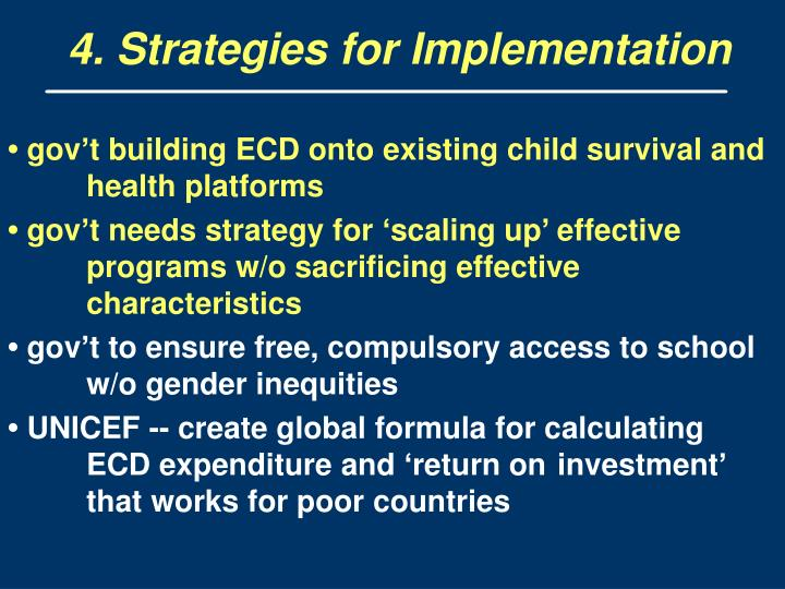 4. Strategies for Implementation