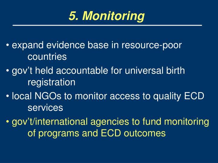 5. Monitoring