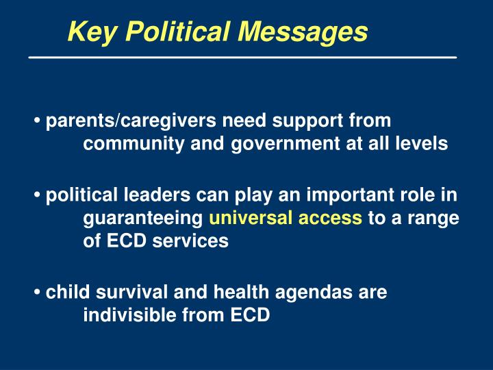 Key Political Messages