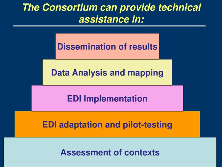 The Consortium can provide technical assistance in: