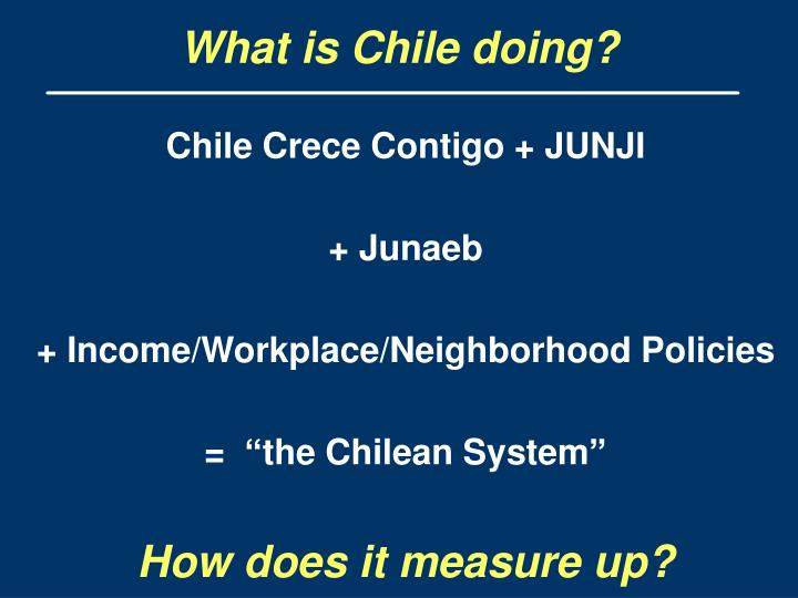 What is Chile doing?