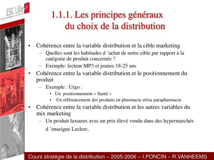 1.1.1. Les principes généraux