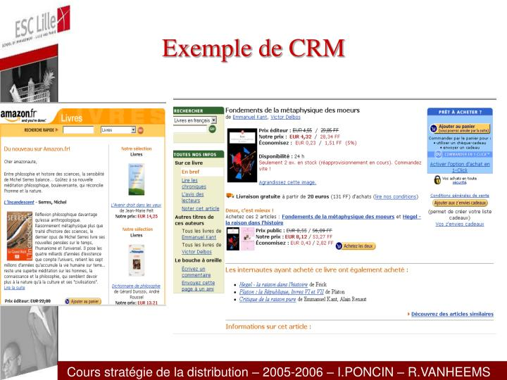 Exemple de CRM