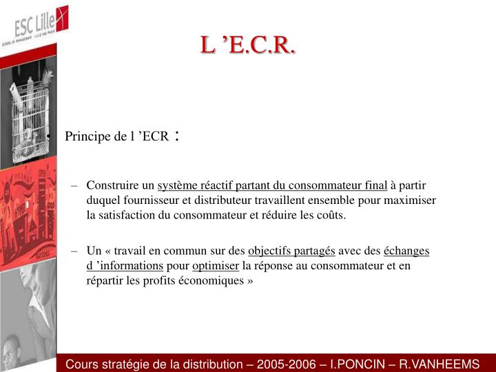 L'E.C.R.