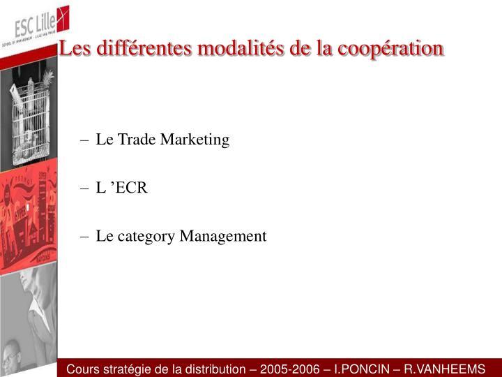 Les différentes modalités de la coopération