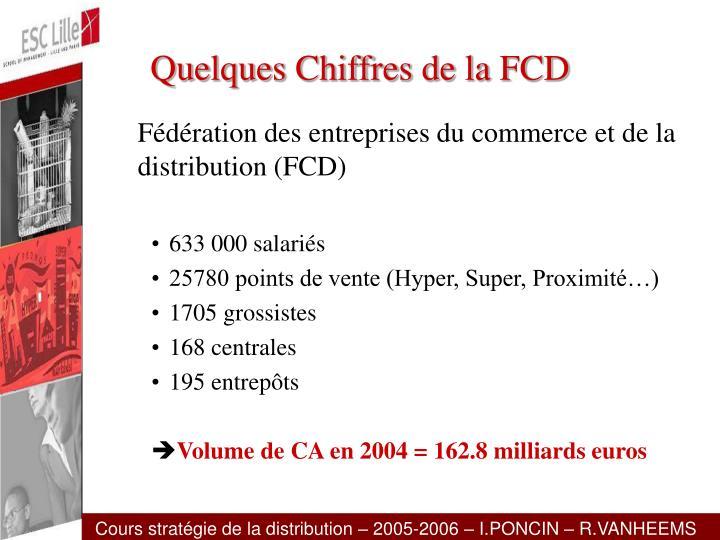 Quelques Chiffres de la FCD