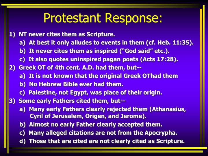 Protestant Response: