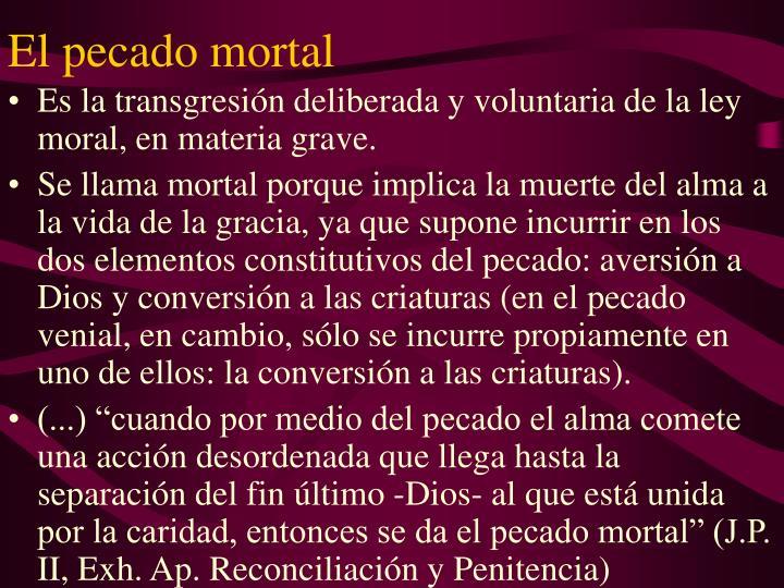 El pecado mortal