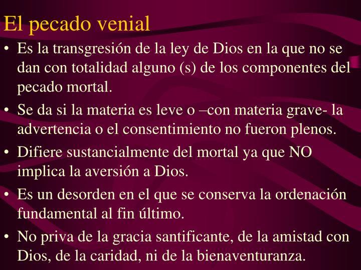 El pecado venial