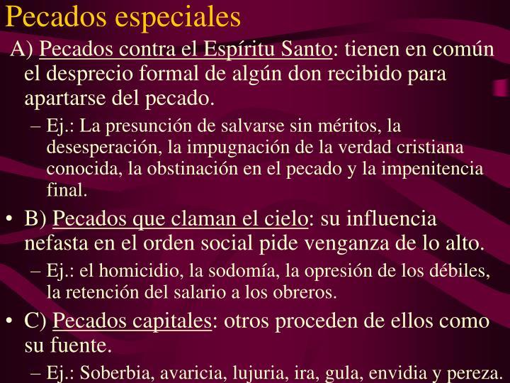 Pecados especiales