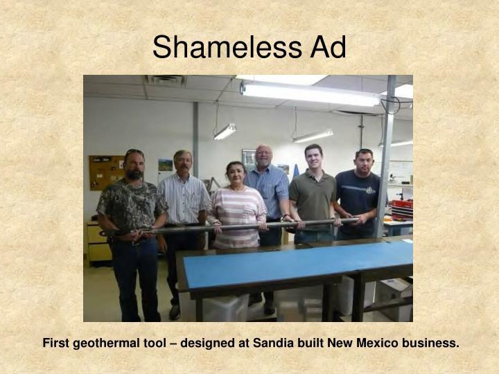Shameless Ad