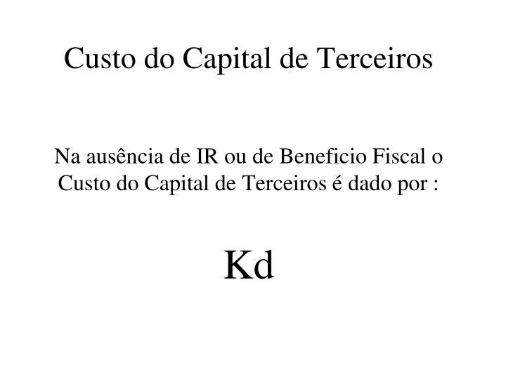 Custo do Capital de Terceiros