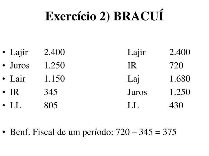 Exercício 2) BRACUÍ