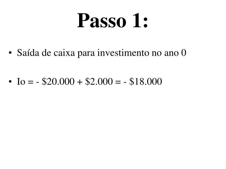 Passo 1: