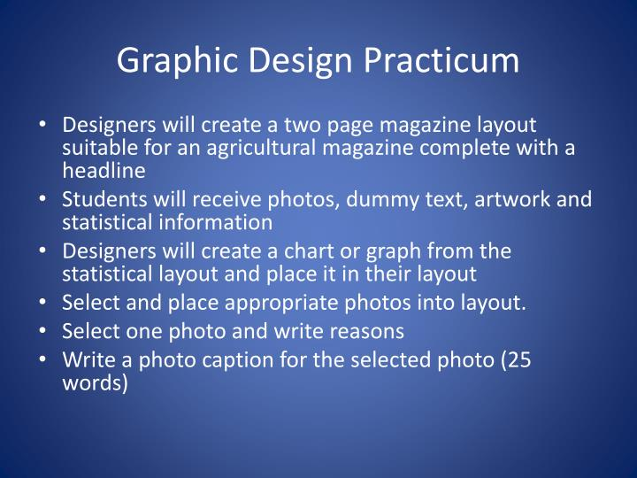Graphic Design Practicum