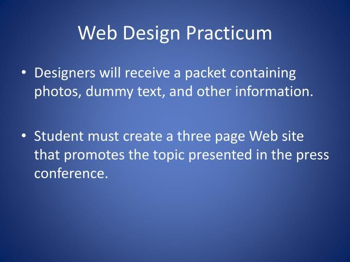 Web Design Practicum