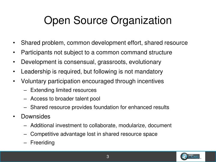 Open source organization