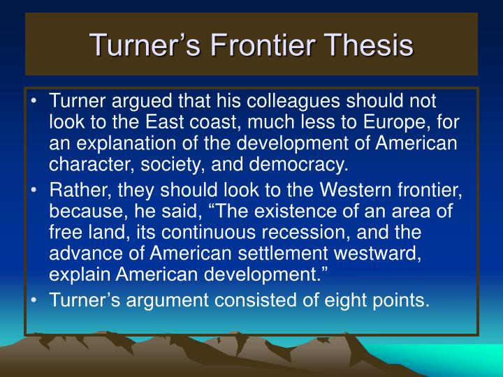 turners frontier thesis