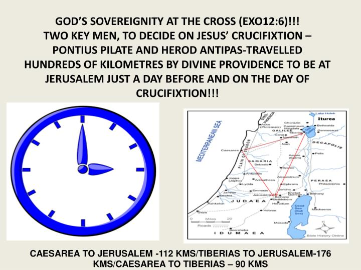GOD'S SOVEREIGNITY AT THE CROSS (EXO12:6)!!!
