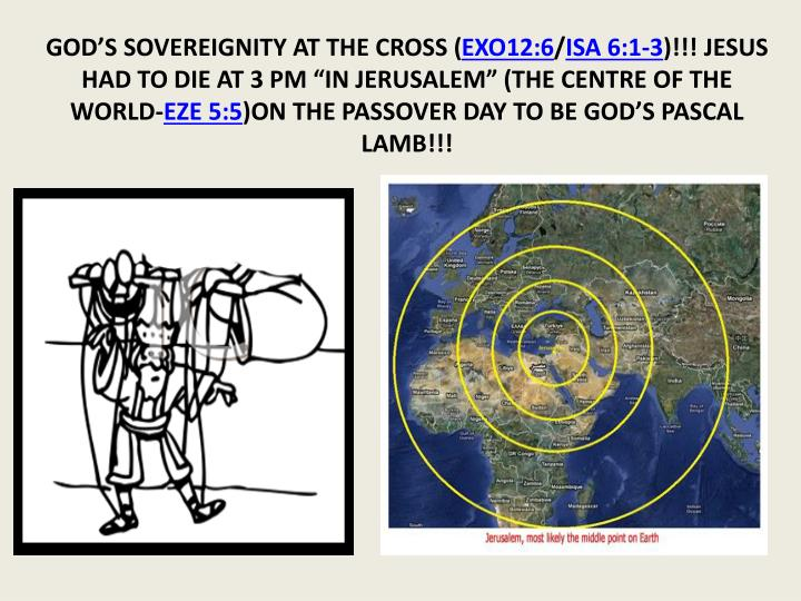 GOD'S SOVEREIGNITY AT THE CROSS (