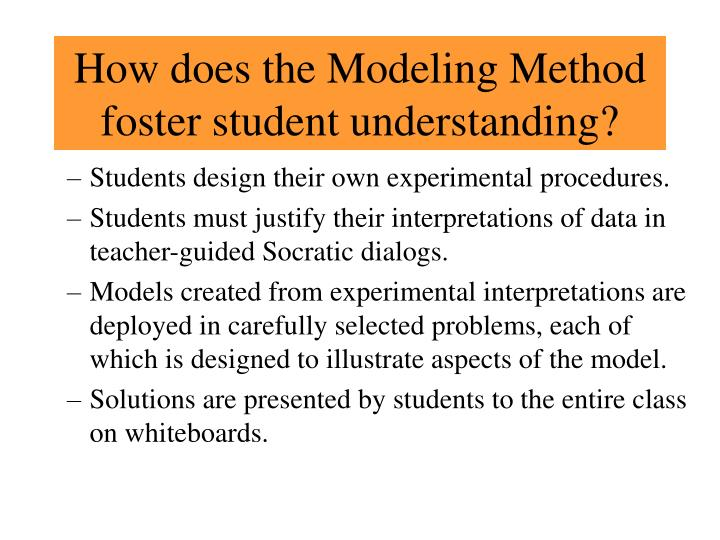 How does the Modeling Method foster student understanding?