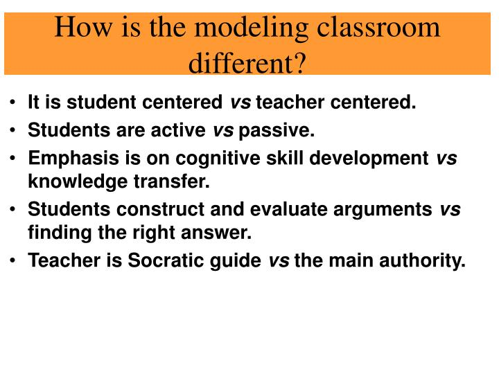 How is the modeling classroom different?