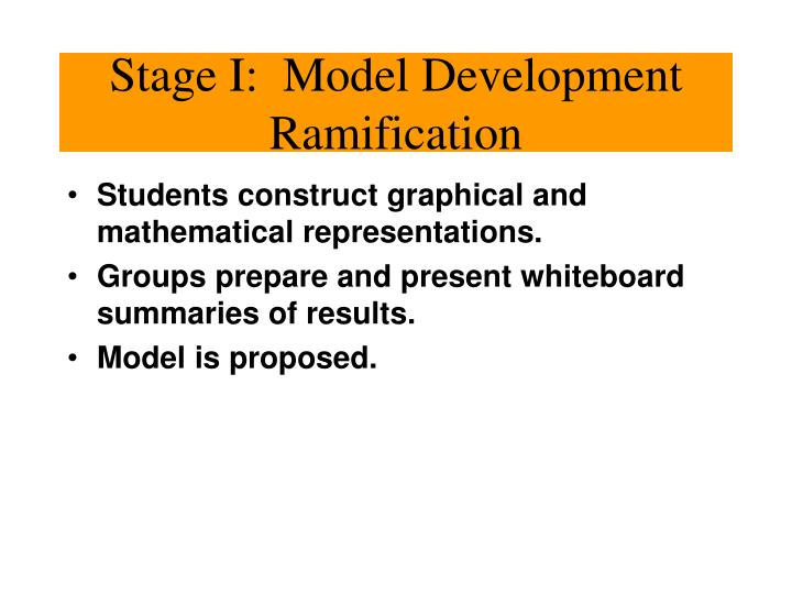 Stage I:  Model Development