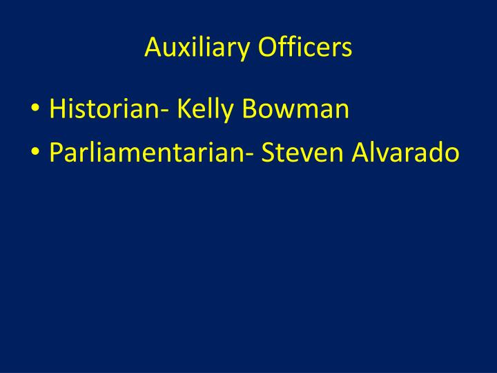 Auxiliary Officers