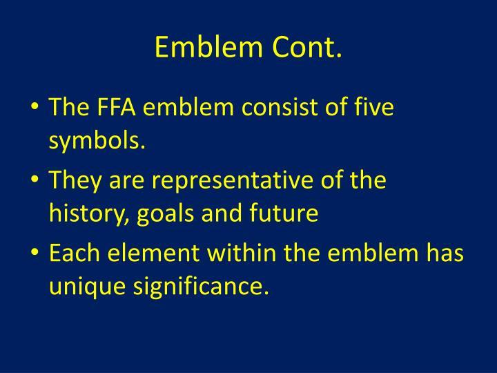 Emblem Cont.