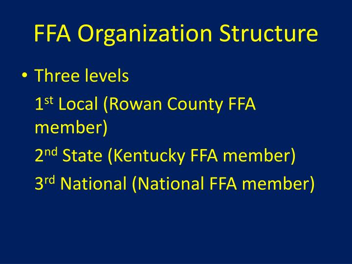 FFA Organization Structure