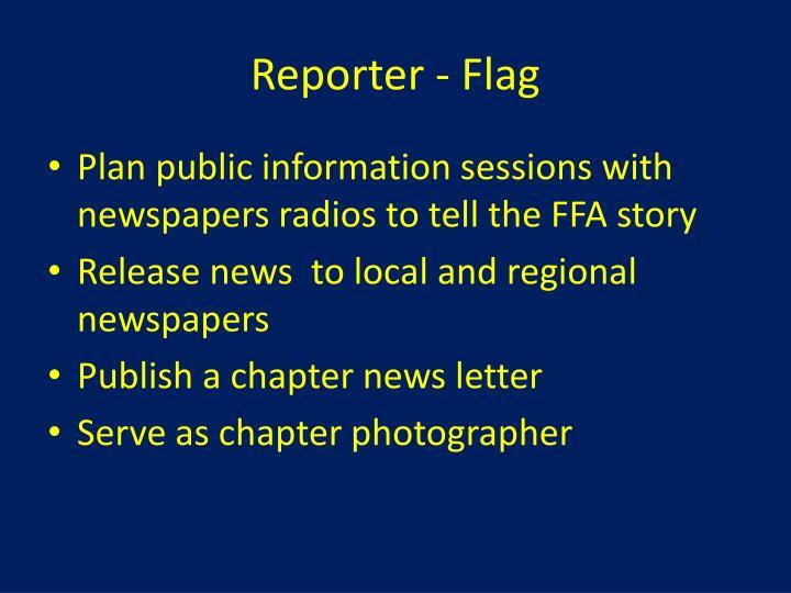 Reporter - Flag