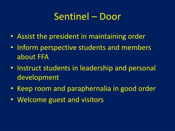 Sentinel – Door