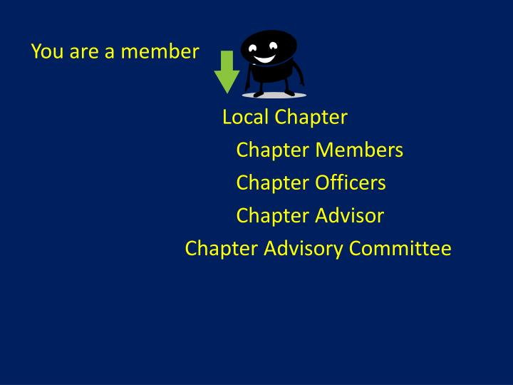 You are a member