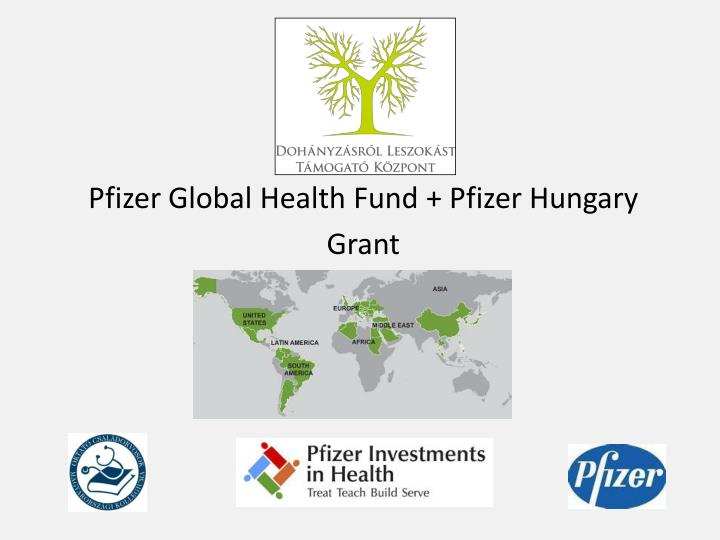 Pfizer Global Health Fund + Pfizer Hungary