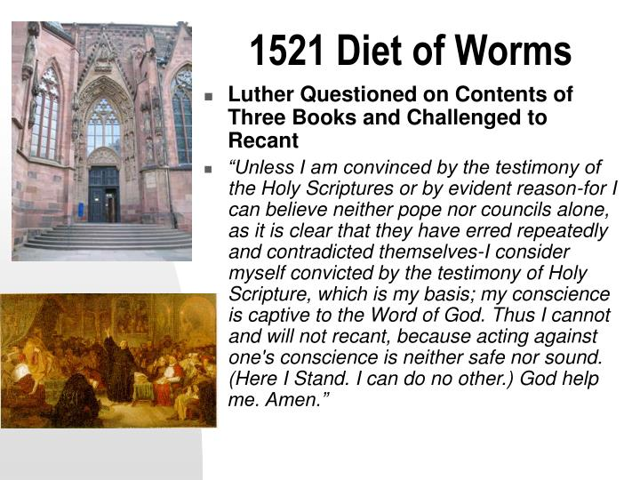 1521 Diet of Worms