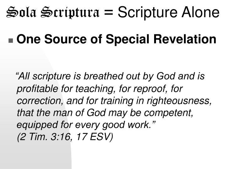 Sola Scriptura =