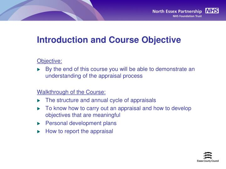 Introduction and Course Objective