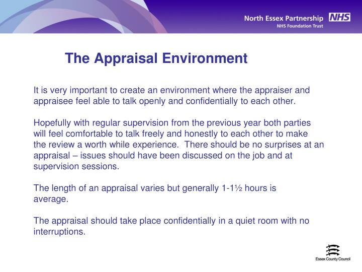 The Appraisal Environment
