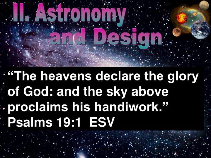II. Astronomy