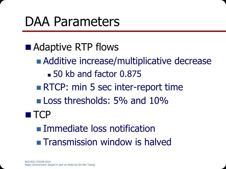 DAA Parameters