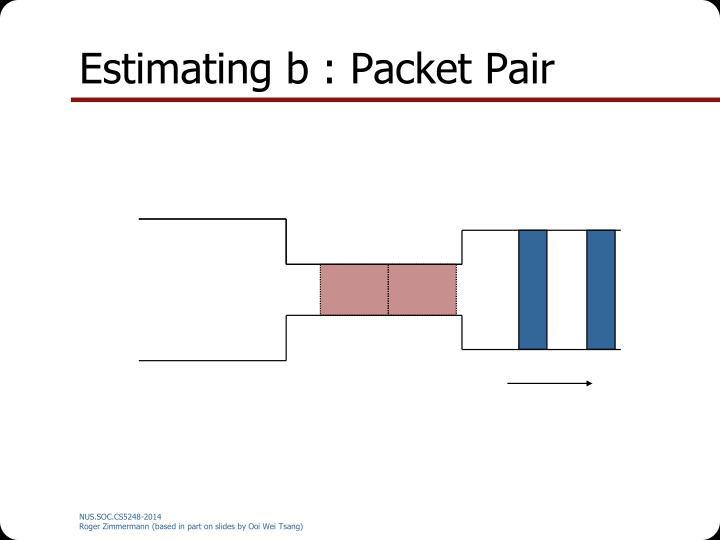 Estimating b : Packet Pair