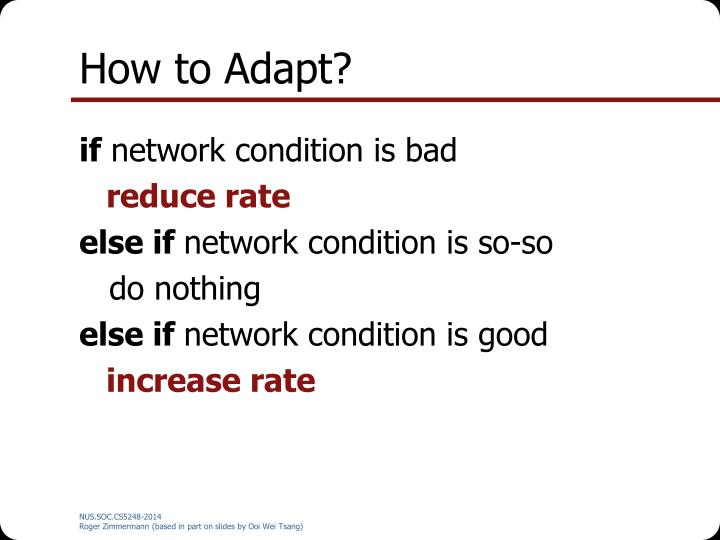 How to Adapt?