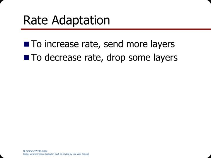Rate Adaptation