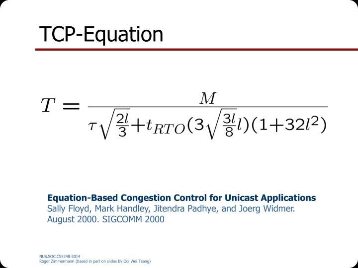 TCP-Equation