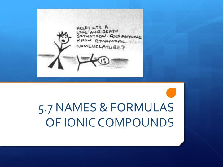 5 7 names formulas of ionic compounds