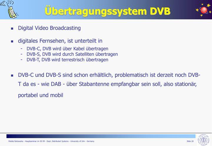 Übertragungssystem DVB