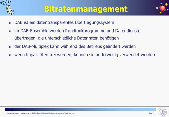 Bitratenmanagement