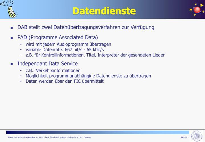 Datendienste